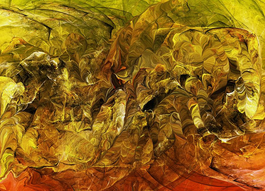 Abstract Digital Art - Heat Of The Battle by David Lane