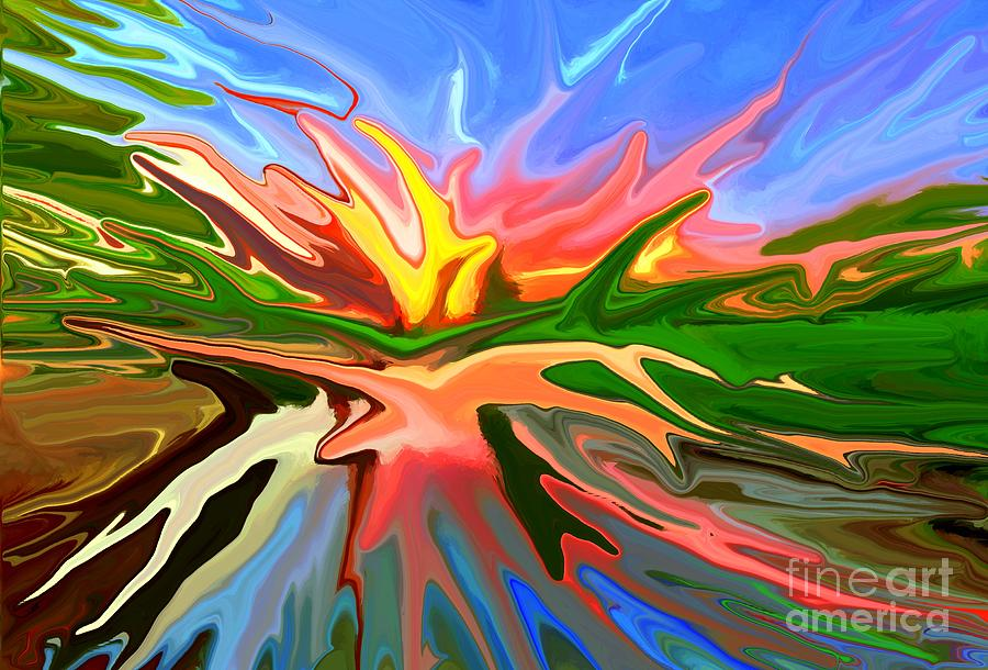 Abstract Mixed Media - Heat Wave by Chris Butler