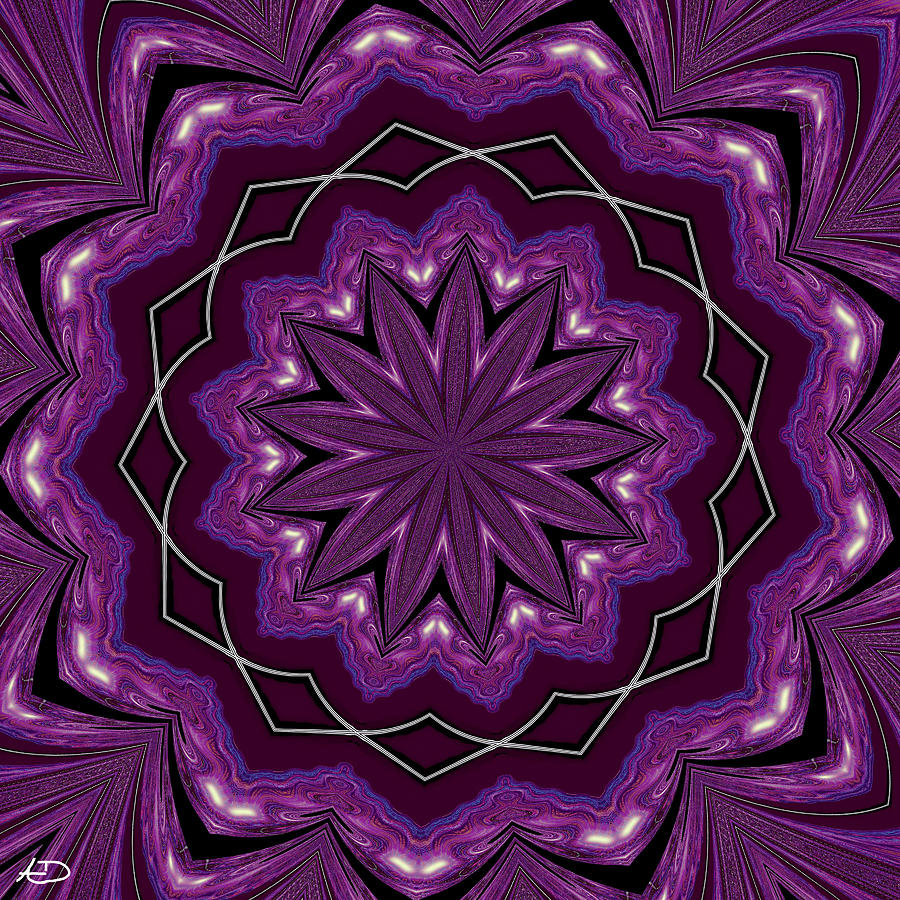 Purple Digital Art - Heather And Lace by Alec Drake