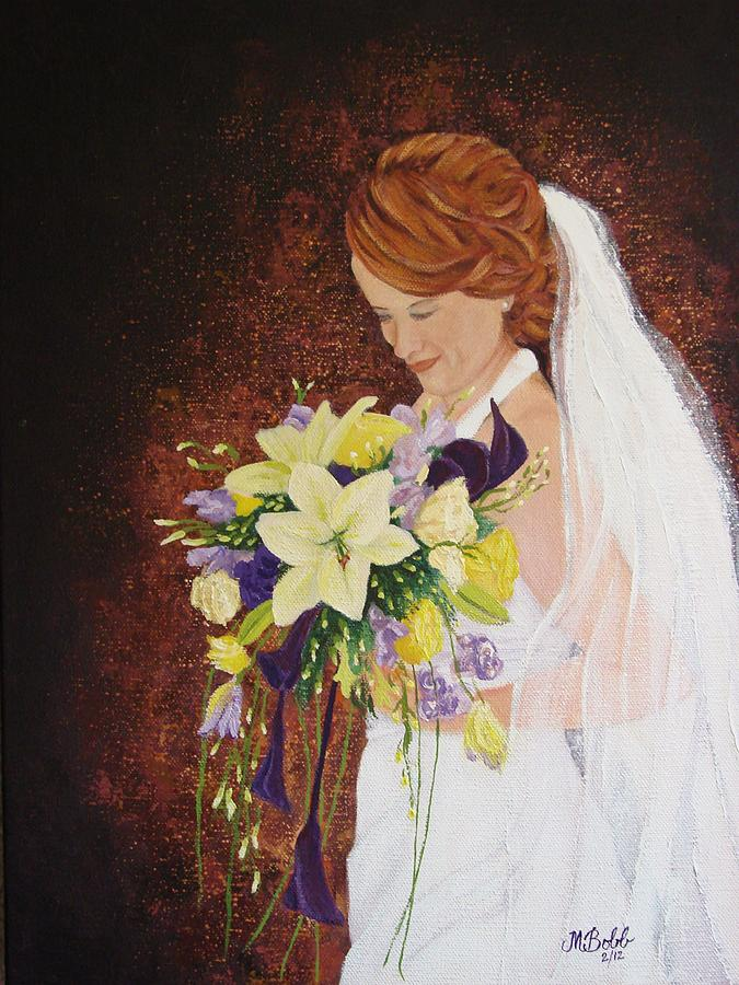 Bride Painting - Heathers Special Day by Margaret Bobb