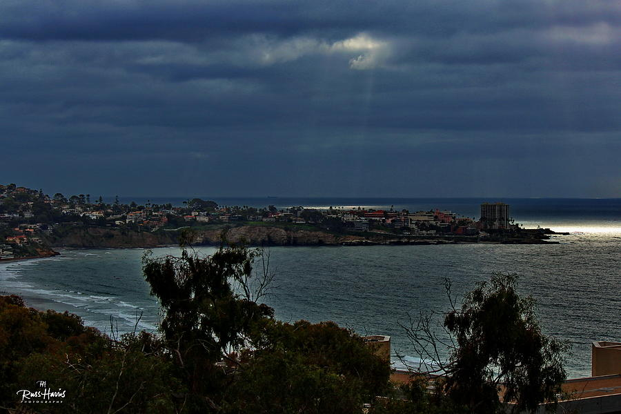 La Jolla Photograph - Heavely Spotlights by Russ Harris