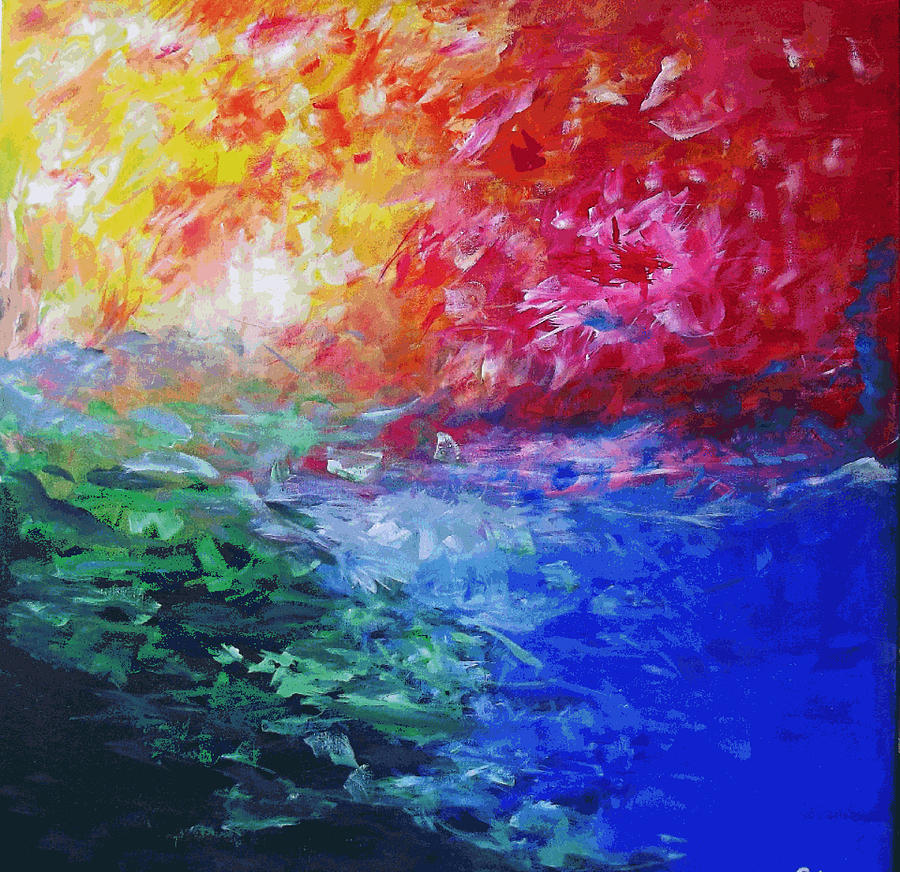 Abstract Painting - Heaven in Flames by Mac  Mood