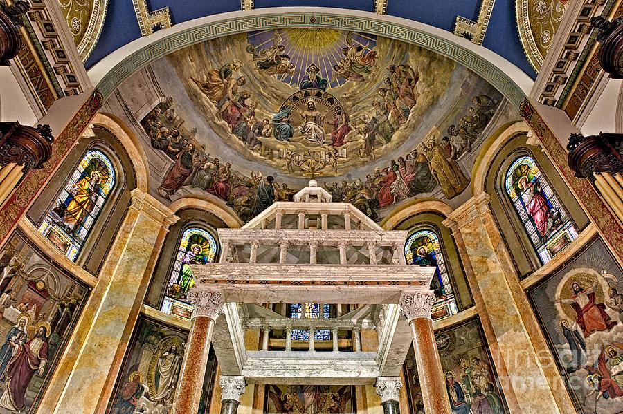 Saint Michael's Church Photograph - Heavenly Altar by Susan Candelario