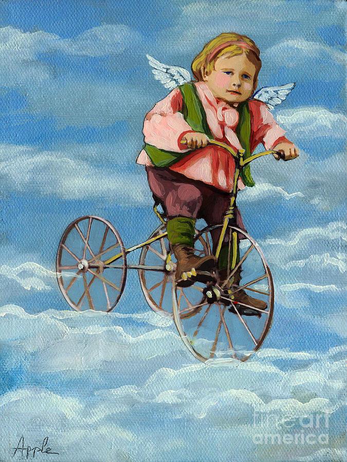 Angel Painting - Heavenly Flight by Linda Apple
