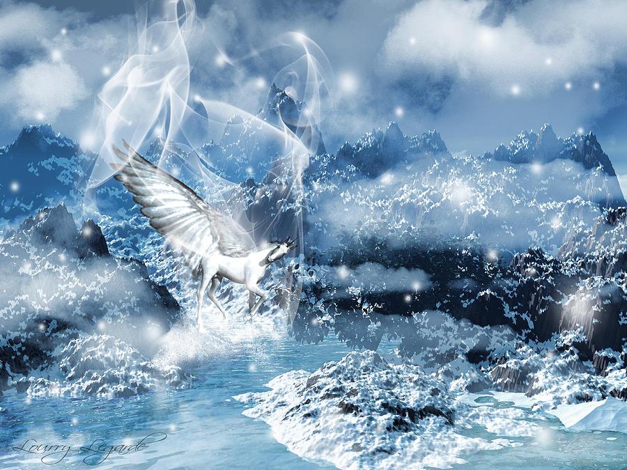 Unicorn Photograph - Heavenly Interlude by Lourry Legarde