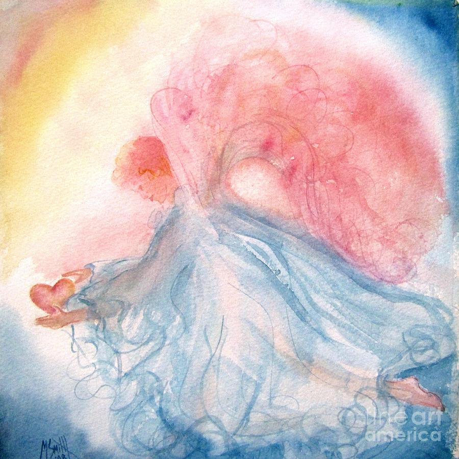 Angel Painting - Heavenly Love by Marilyn Smith