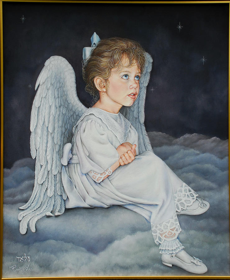 Child Painting - Heavenly Messanger -mahalahk by Ruth Gee