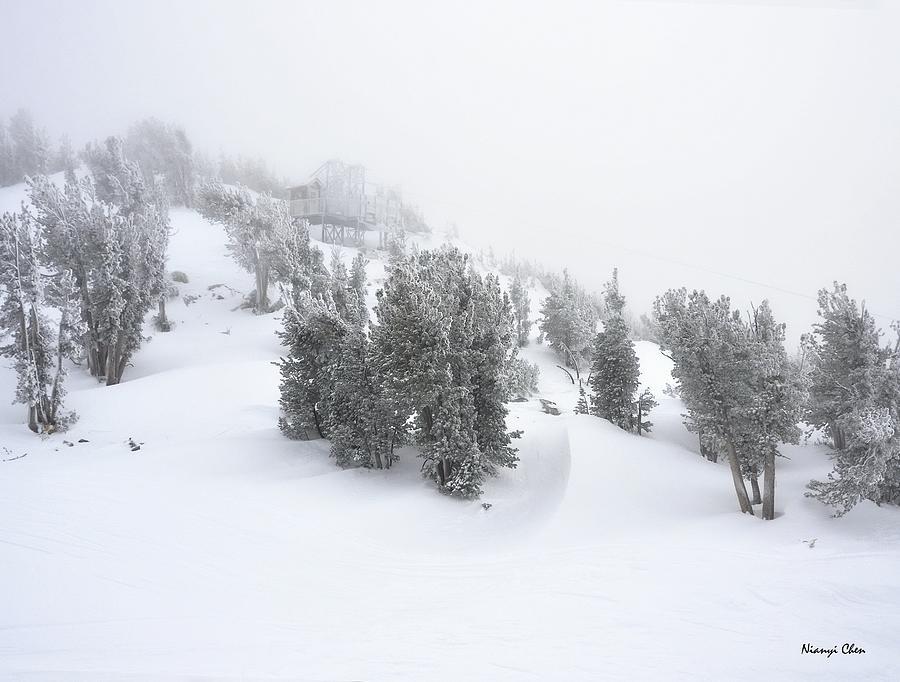 Heavenly Ski Resort Photograph - Heavenly  by Nian Chen