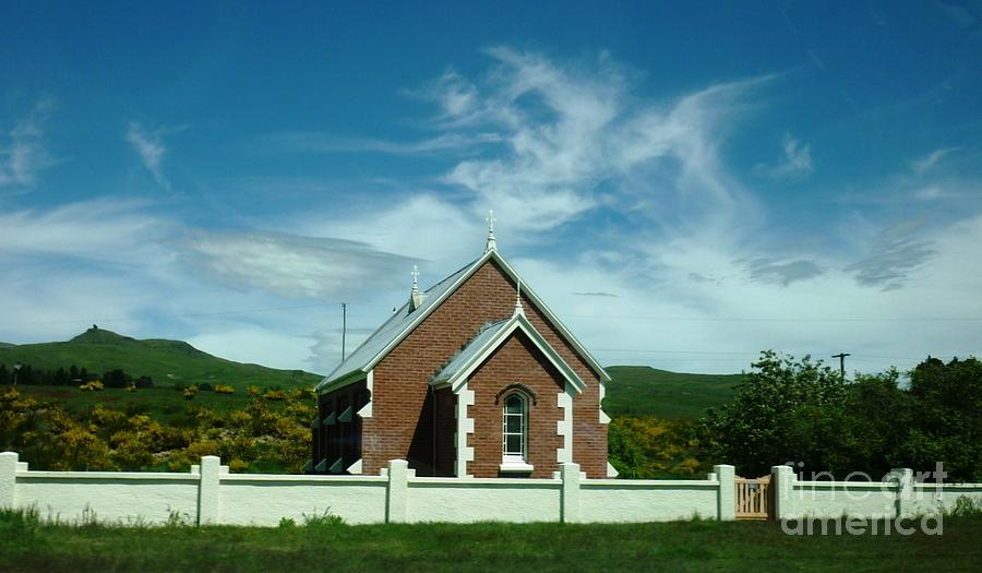 Church Photograph - Heavenly Sky With Church by Therese Alcorn