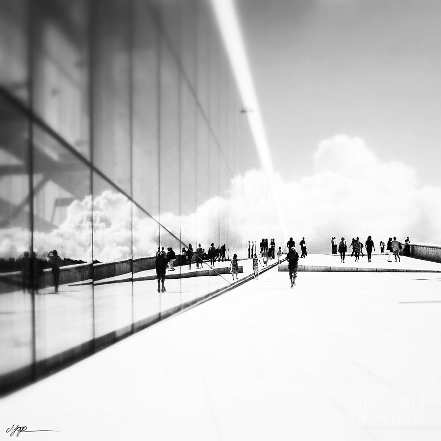People Photograph - Heavenly Walk In Oslo 3 by Marianne Hope
