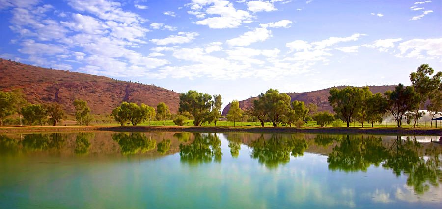 Australia Photograph - Heavitree Gap Reflected by Paul Svensen