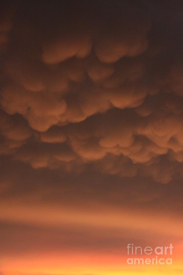 Clouds Photograph - Heavy by Bret Worrell