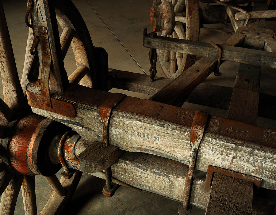 Farms Photograph - Heavy Hauler - Vintage Wagon by Steven Milner