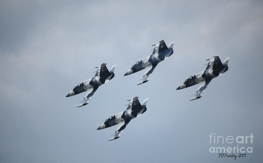 Air Show Photograph - Heavy Metal Jet Team by Susan Stevens Crosby