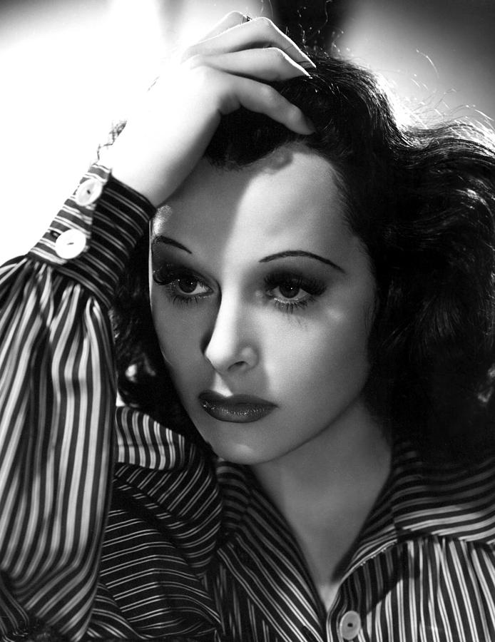Hand On Head Photograph - Hedy Lamarr, 1939, Photo By Clarence by Everett