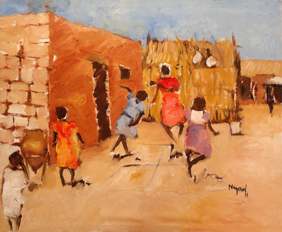 Landscape Painting - Hejlaa by Negoud Dahab