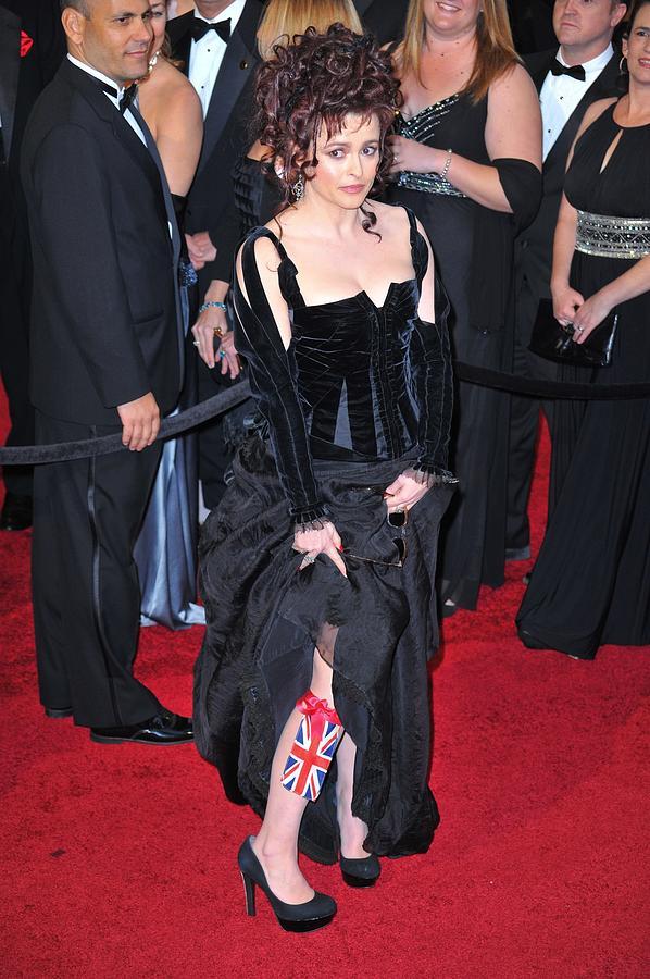 Helena Bonham Carter Photograph - Helena Bonham Carter Wearing A Colleen by Everett