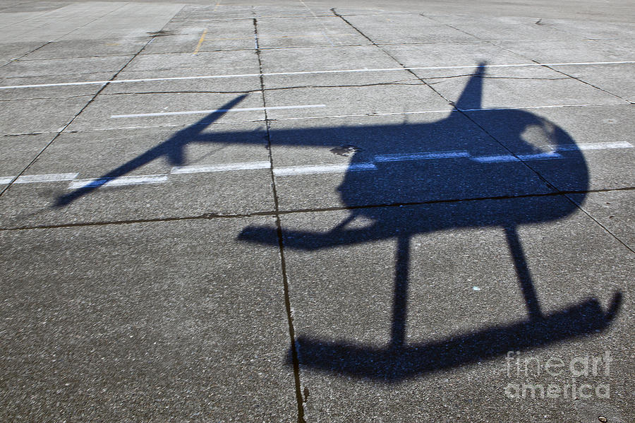 Aerials Photograph - Helicopter Shadow by Francis Zera
