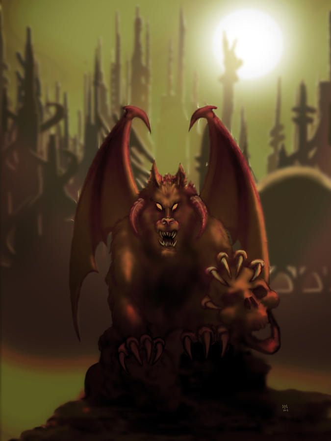 Macabre Digital Art - Hell Wolf by William McDonald