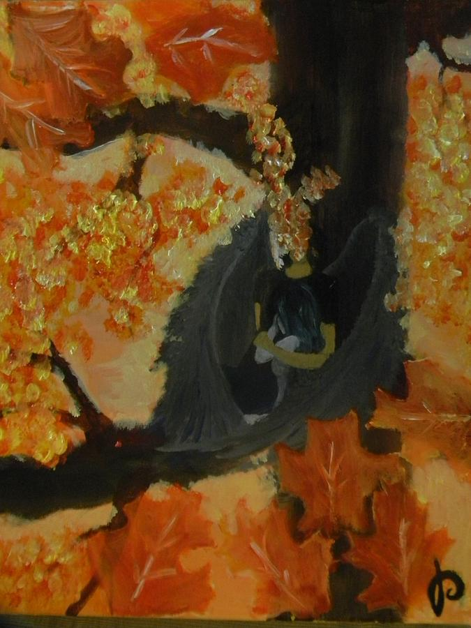 Angel Painting - Helles Fear by Mahalaleel Muhammed-Clinton
