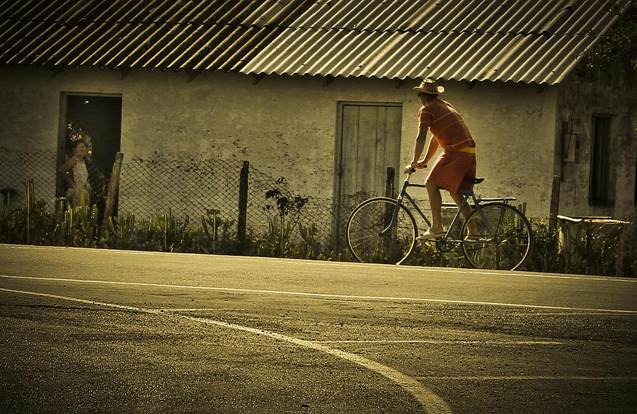 Bicycle Photograph - Hello by Milan Kalkan