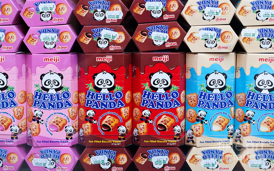 Hello Photograph - Hello Panda Biscuits by Rick Piper Photography