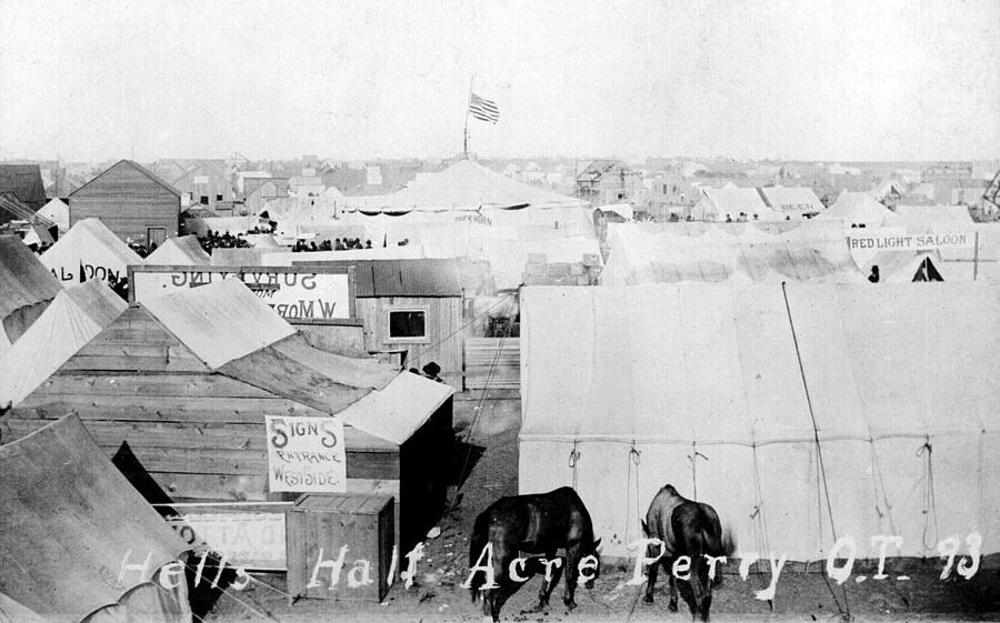 1890s Photograph - Hells Half Acre, Perry, Oklahoma by Everett
