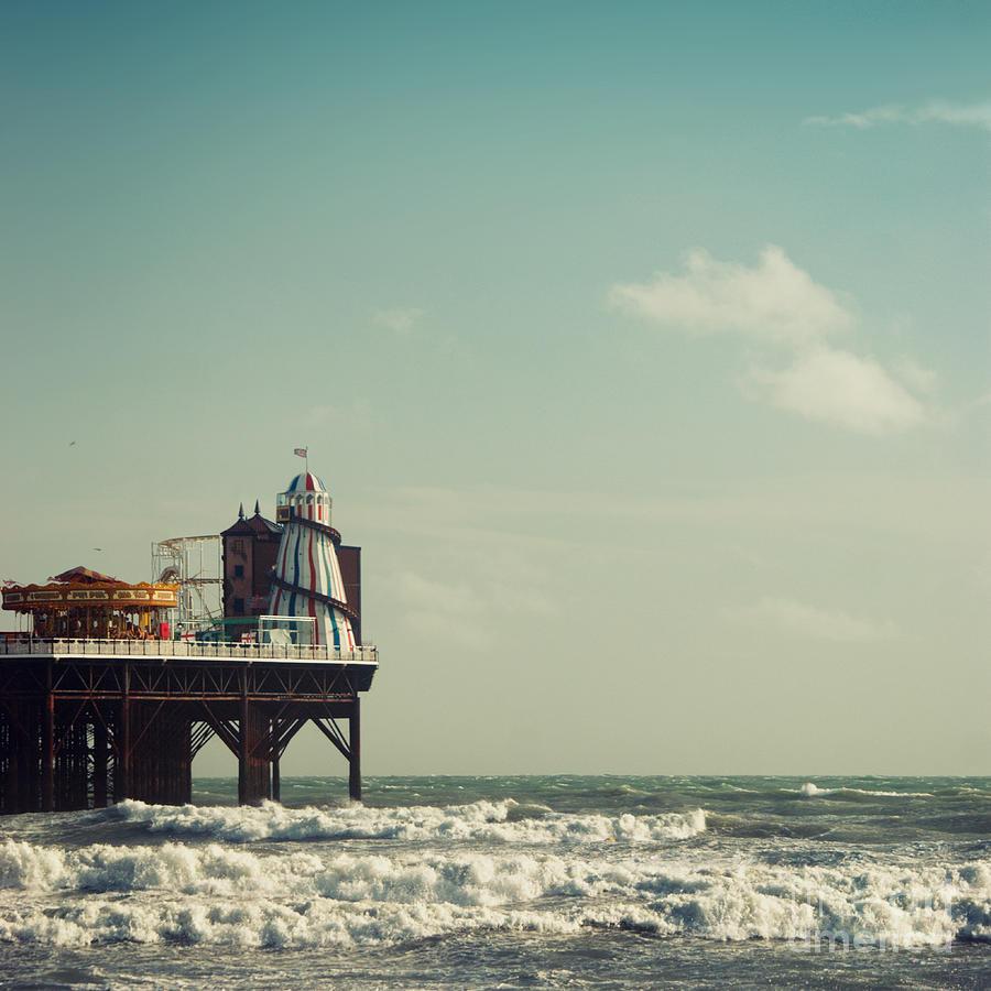 Helter-skelter Photograph - Helter-skelter On Brighton Pier  by Paul Grand