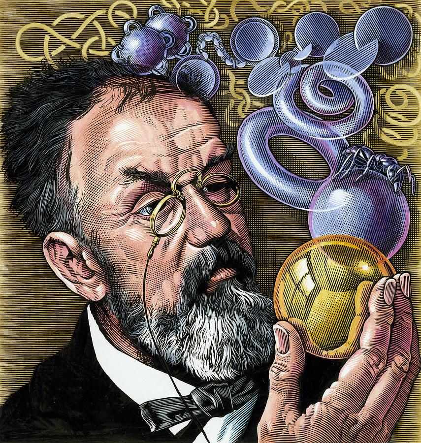 Portrait Photograph - Henri Poincare, French Mathematician by Bill Sanderson