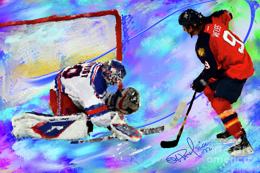Hockey Painting - Henrik Lundqvist by Donald Pavlica