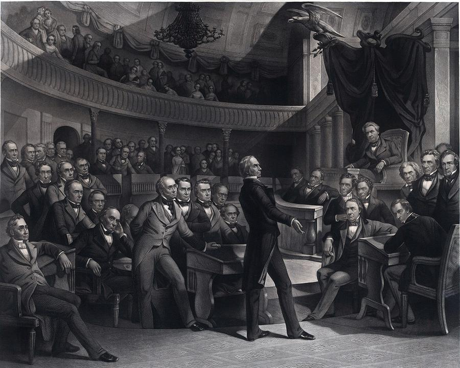 History Photograph - Henry Clay 1777-1852 Addressing by Everett