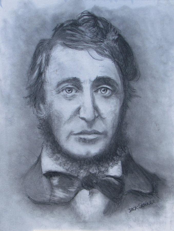 Henry David Thoreau Drawing - Henry David Thoreau by Jack Skinner