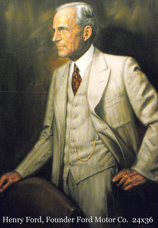 Henry Ford Painting by Joseph Hagenbuch