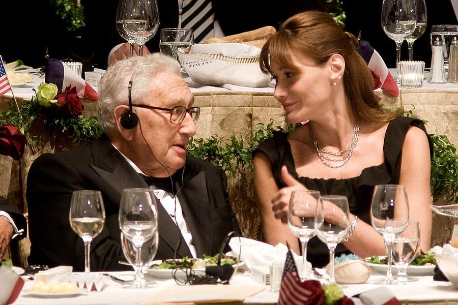 Awards Photograph - Henry Kissinger, Carla Bruni-sarkozy by Everett