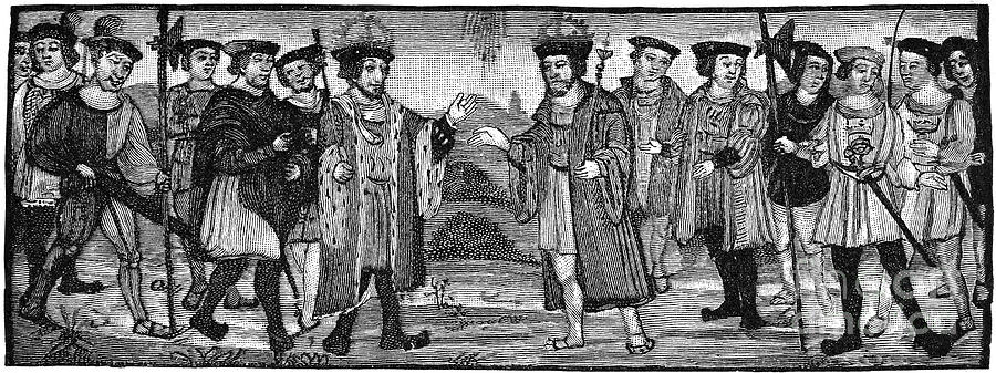 1527 Photograph - Henry Viii & Francis I by Granger