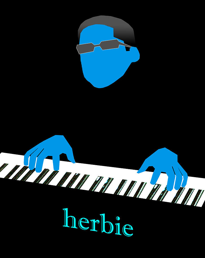 Jazz Digital Art - Herbie Blue by Victor Bailey