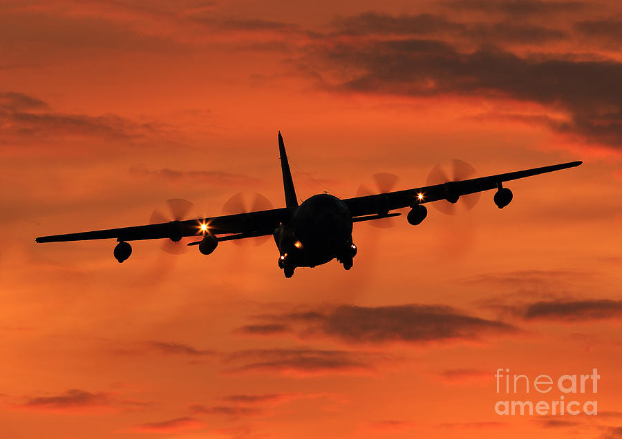 Herculean Sunset By Clare Scott Photograph - Herculean Sunset  by Clare Scott