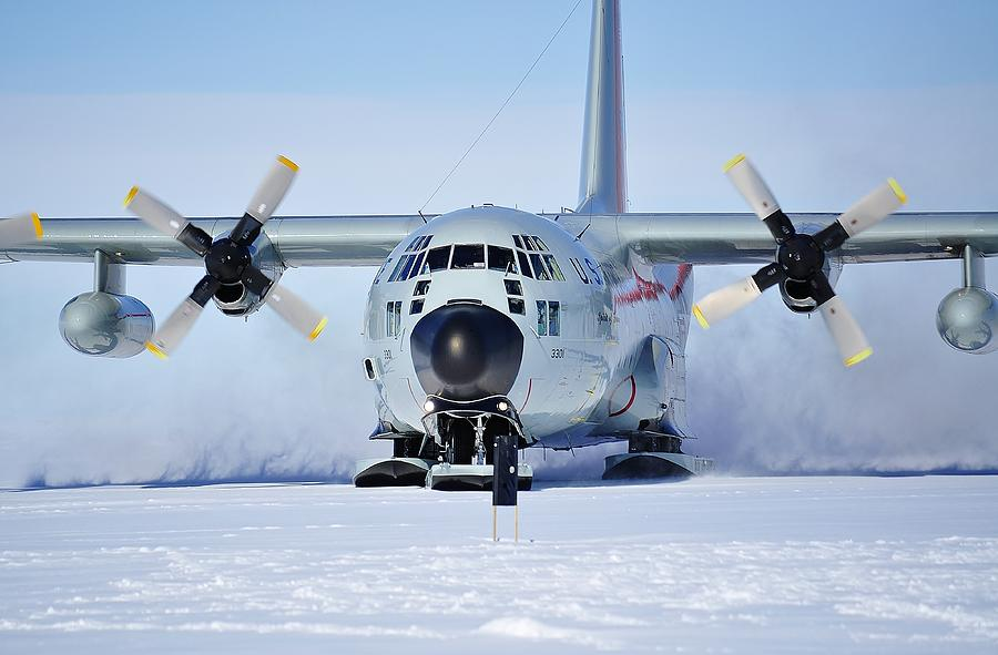 Antarctic Landscapes Photograph - Hercules Lc130h 05 by David Barringhaus