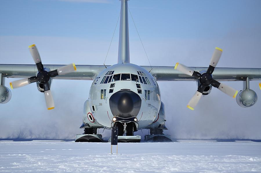 Antarctic Landscapes Photograph - Hercules Lc130h by David Barringhaus