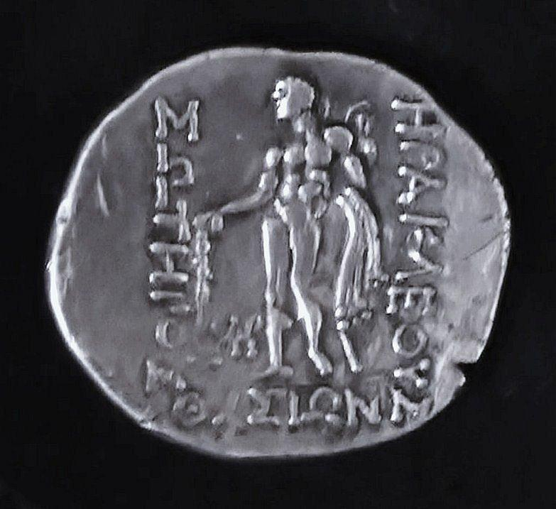 Ancient Greek Coin Relief - Hercules by Unknown