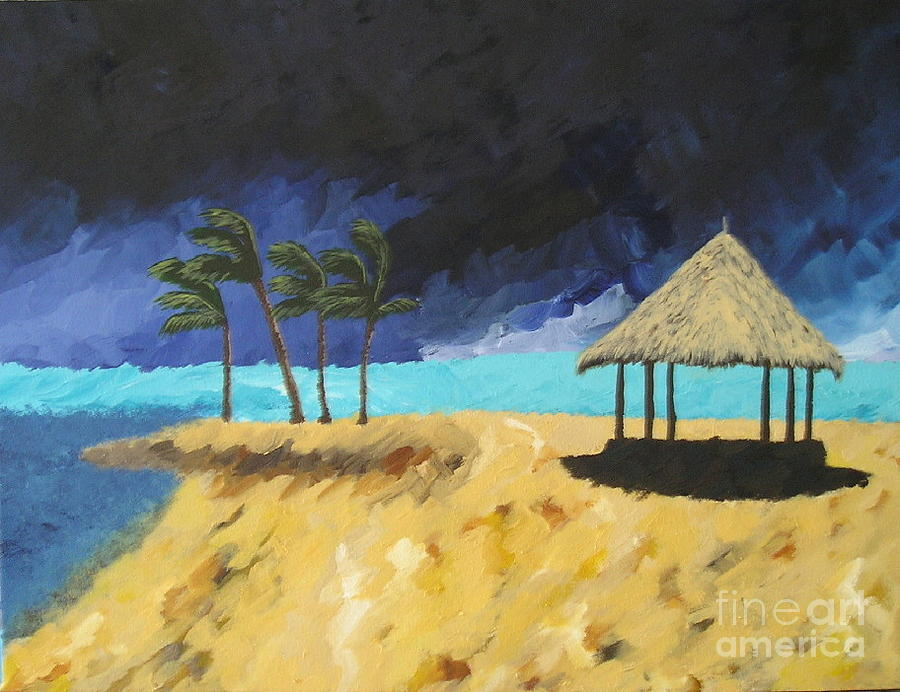 Beach Painting - Here It Comes by Silvie Kendall