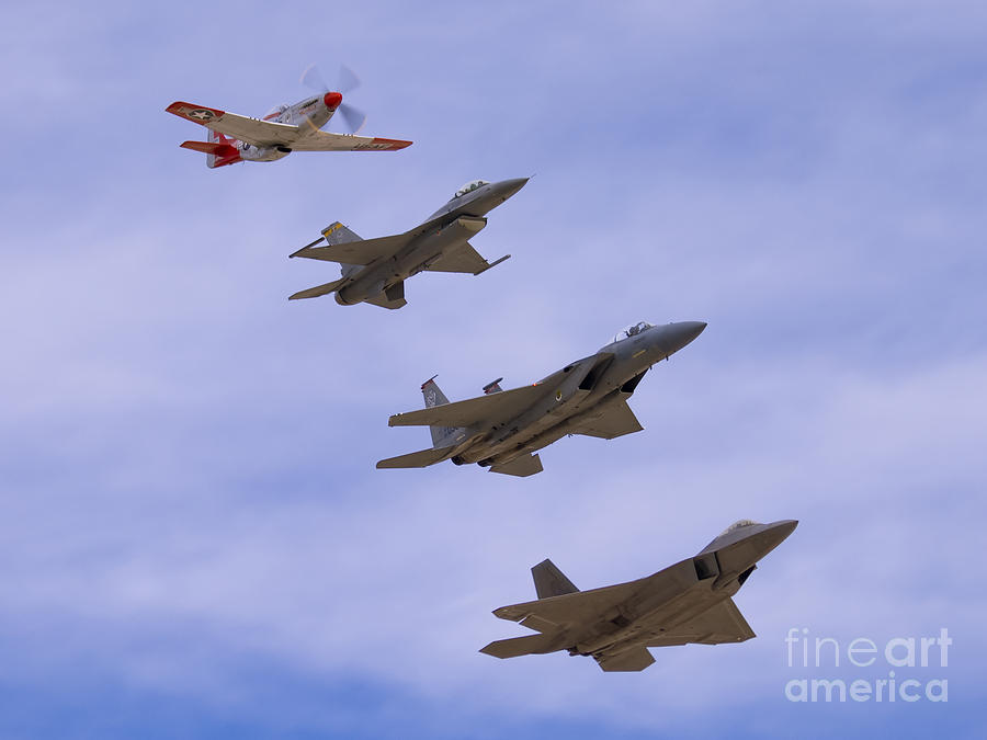 Usaf Photograph - Heritage Stack by Tim Mulina