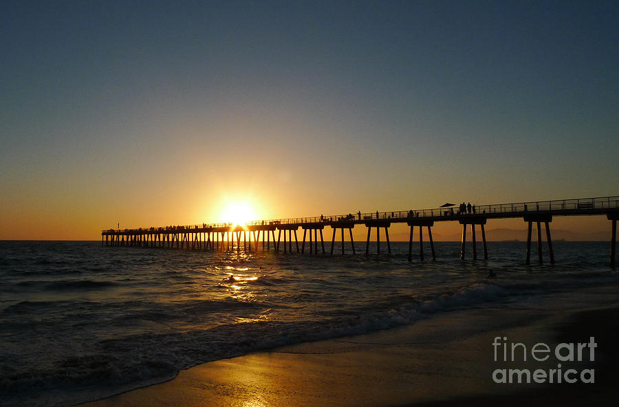 Sunset Photograph - Hermosa Beach Sunset by Nina Prommer