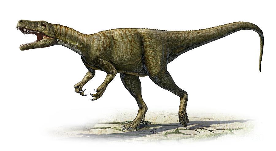 Horizontal Digital Art - Herrerasaurus Ischigualastensis by Sergey Krasovskiy