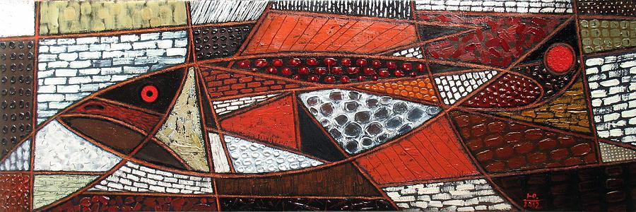 Geometry Painting - Herring. 2012 by Yuri Yudaev-Racei