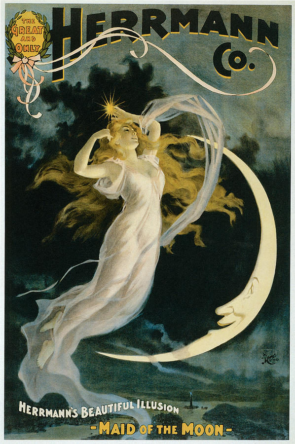 Herrmann Painting - Herrmann Maid Of The Moon by Unknown