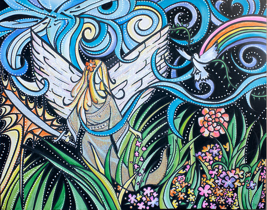Planting Seeds Painting - Hes All Around Us by Amber Hadden