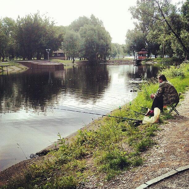 Hes Pro At Fishing. :d Photograph by Orange Fox