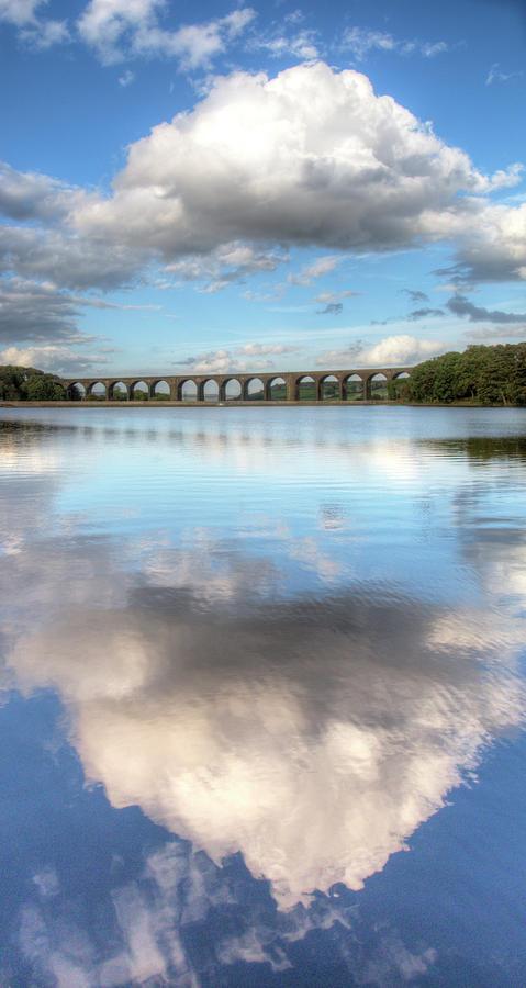 Vertical Photograph - Hewenden Reservoir & Viaduct, Yorkshire by Steve Swis