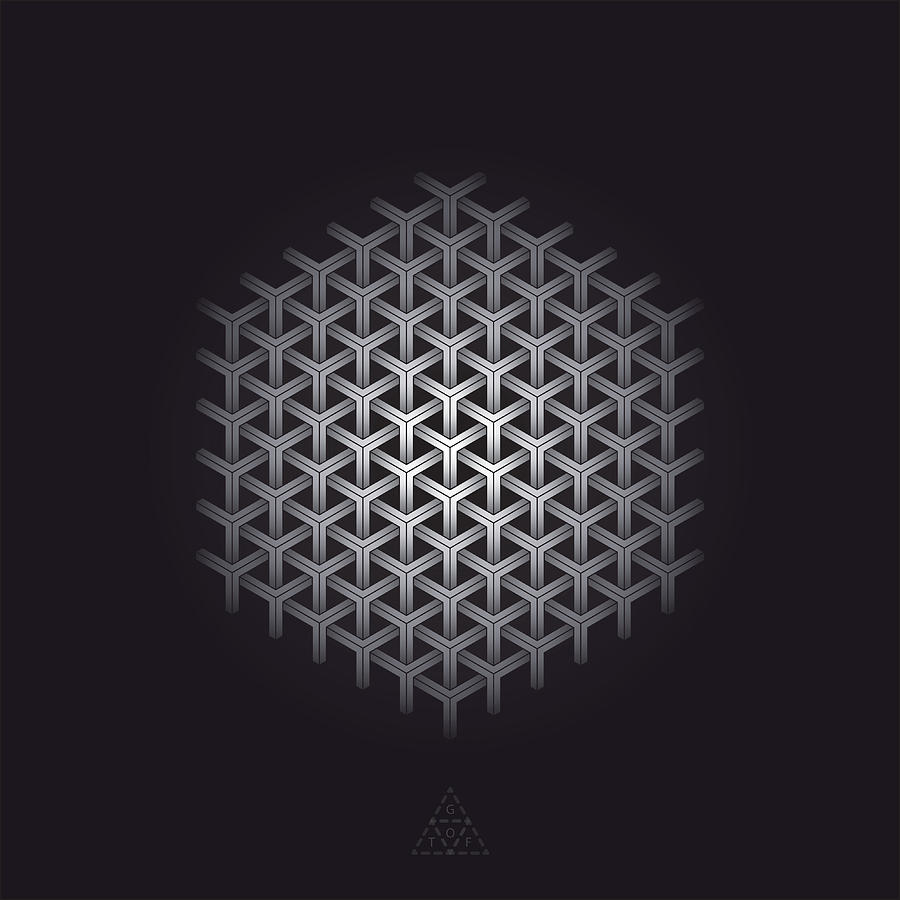 Hexagon Digital Art - Hexagon Matrix Optic V16.1 by Guardians of the Future